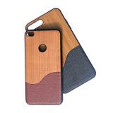 Caixa protetora de madeira do telefone móvel da pasta TPU para o iPhone