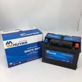 DIN74 12V 74ah優秀なパフォーマンスMfの鉛の酸車か自動電池(57412/57413)