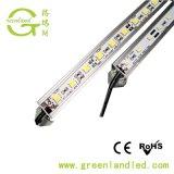LEDのストリップのための高く明るい3年の保証SMD 12V 24V LEDの堅いストリップPVCプロフィール