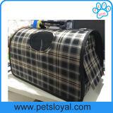 Portador portátil do animal de estimação da casa de fonte do saco da gaiola do portador do cão