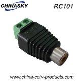 Adaptateur de la télévision en circuit fermé RCA de femelle avec le terminal de vis (RC101)