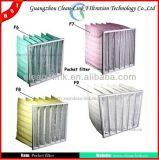 G4 F5, F6, F7, F8, F9 filtro Pocket sintetico, filtro a sacco per la HVAC, Ahu
