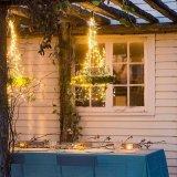 Licht van het openlucht Zonne het Aangedreven LEIDENE Doorplate Koord voor Huwelijk, Tuin, Kerstmis