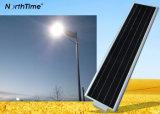 Lampada di via solare tutta compresa a energia solare automatica di controllo di tempo LED