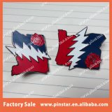 Fashion 로즈 Flower를 가진 공장 Directly Wholesale High Quality Custom Souvenir Grateful Dead Hard Enamel Hat Emblem Lapel Pin
