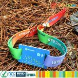 Bracelete tecido da tela NFC NTAG213 do festival de música