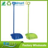 Dustpan de plástico dobrável doméstico com alça longa