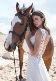 Mousseline de soie sexy une ligne robe de soirée de robe de mariage (BH009)