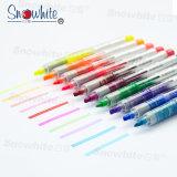 SnowhiteからのHighlighterのペンPvp626は10のカラーのみの先端の蛍光液体インクを分類した