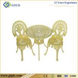 옥외 안뜰 가구 알루미늄 정원 테이블 의자