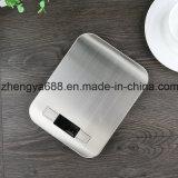 5kg de carga nominal y 1g la precisión de acero inoxidable Báscula de cocina