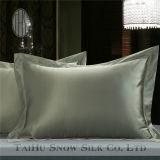 Taihu Snow Plain teñido 100% seda funda de almohada