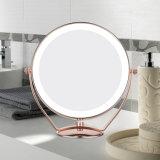 Espejo cosmético del maquillaje del vector de 8 pulgadas LED con diseño de la manera
