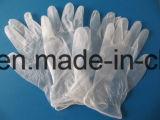 Transparente Puder-Vinylwegwerfhandschuhe