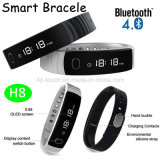 IP56 Wateproof Bluetooth intelligentes Armband mit Pedometer-Funktion (H8)
