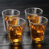 Octagon/hexagonal copa de vino de la copa de vidrio de borosilicato taza de té de doble pared