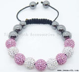 Fashion Knell Rhinestone Bead Handwoven Knitted Adjustable Braided Bracelet