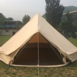 Wasserdichte Familien-kampierendes Segeltuch-Zelt des Durchmesser-5m LuxuxGlamping Rundzelt mit Sun-Farbton-Plane