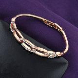 La última moda de oro rosa Rhinestone Pulsera Brazalete de aleación simple