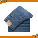 Calças de brim lavadas da sarja de Nimes da forma das calças de estiramento dos homens por atacado