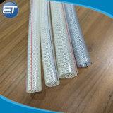 Expansão da malha de fibra de PVC transparente flexível reforçado a mangueira de jardim de irrigação de água