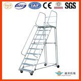 Degrau da escada de segurança de alumínio com Corrimão