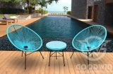 Stalen frame PE Rattan Outdoor Furniture Leisure Egg Chair and Tabel