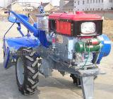 Tractor ambulante 18HP, caçamba de força, trator de duas rodas e trator de mão