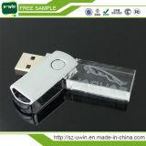 Nuevo mecanismo impulsor del flash del USB del cristal LED con diseño libre de la insignia