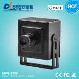 1280*720 Megapixel H. 264 CODEC P2P Mini-Cube de câmara de vídeo digital IP Msq-720s