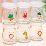 Vaso di vetro del commestibile con il vaso di /Honey del coperchio/vaso dell'ostruzione/vaso dell'alimento/vaso della salsa