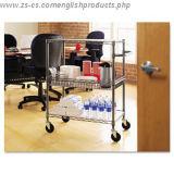 조정가능한 크롬 사무실 저장 실용적인 트롤리 선반