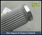 Filtre tissé plissé de cartouche d'acier inoxydable de treillis métallique