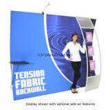 La prima de 10 pies magnéticos curvo Pantalla emergente Publicidad impresa tensión de la pantalla de visualización /tejido emergente Mostrar