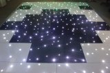 60 * 60 cm Pista de baile blanco y negro del piso de la danza del LED para la demostración de coche de la fiesta de boda de la luz de la etapa LED