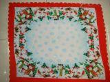 Nouveau design 100%polyester Tissu de la table de Noël (WLCH007)