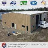 Construcción de edificios ligera prefabricada de marco del metal