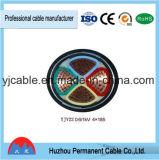 Fio de cobre do cabo 25mm do núcleo de Yjv22 Yjlv22 0.6-1kv 3