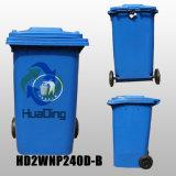 240L Starage Plástico Bin roda de borracha reciclagem para a piscina