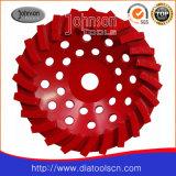 Diamante de 7 pulgadas de las ruedas de turbulencias para la piedra y hormigón pulido