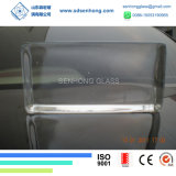 Het duidelijke Berijpte Stevige Transparante Blok van het Glas voor de Muur van het Glas