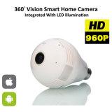 휴대용 LED에 의하여 숨겨지는 무선 사진기를 가진 360 도 전구 안전 감시 사진기