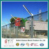 Разделительная стена подъема загородки колючей проволоки 358 тюрьмы анти-