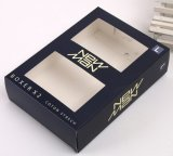 Caja de embalaje de la bufanda negra de encargo de Matt