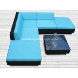 Il sofà di vimini del rattan della mobilia ha impostato per il giardino con il blocco per grafici di alluminio (9509)