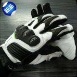 Competir con los guantes de cuero del deporte de la motocicleta