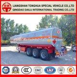 de 3-Axle 47cbm de carbón del acero de gasolina del tanque acoplado semi