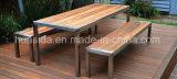 Parque/pátio que janta a tabela longa ajustada com assento da praia