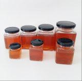 Chocs en verre de miel de verrerie de choc d'encombrement avec le couvercle