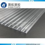 Panel hueco de policarbonato transparente con protección UV de 50 μm